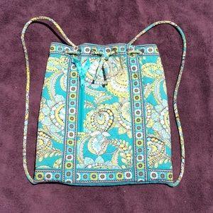 Vera Bradley sling cinch backpack Peacock print